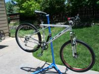 This is a GT Zaskar Aluminum Mountain Bike. There is a