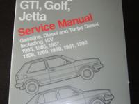 GTI, Golf, Jetta Bentley Service Manual 85-92 (brand