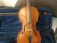 Guarnerius copy violin in saxony. Made in about 1945.