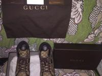 Gucci sneakers 11G-$220 Foamposite Crimson size