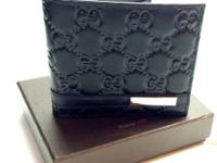 Gucci Steel Club bi fold Black Guccissima Leather