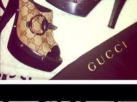 authentic Gucci heels in size 9 1/2 Would fit a nine as