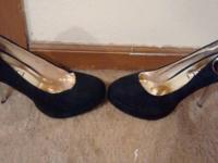 Gucci heels ... black ... brand name new without box--