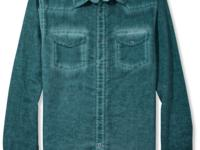 The washed-out look of this linen-blend GUESS shirt