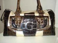 Guess brand purse, brown/beige, barely used, paid