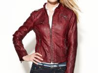Rev up your look in GUESS' biker-chic moto jacket