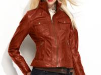 Motorcycle style made modern: GUESS' leather jacket