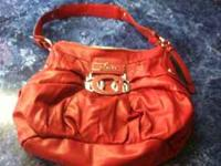 Red Guess purse $50 call  Location: MIDLAND
