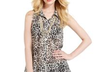 Go for fierce flair with this GUESS leopard-print tank