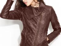 GUESS gives the classic biker jacket a chic update,