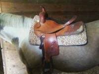 I have a Guffy Western saddle for sale! Has some silver
