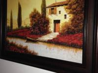 Gorgeous, big Guido Borelli canvas paint in a really