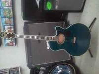BLUE COLOR GUILD GUITAR IN MINK CONDITION. ANY