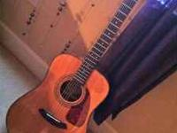 Acoustic Fender 6 string guitar, classic design. Hardly