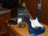 This is a Squire Bullet guitar by Fender. The