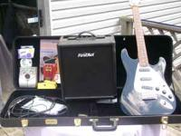 Guitar and Amp plus Triump hard case 3 distortion
