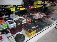 Check out all of these effects pedals !!!  Distortion,