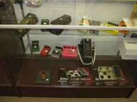 Excellent selection of new and used effects pedals: