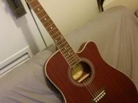 Kona slim body model K2TRD acoustic/electric guitar in