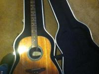 Ovation accoustic 6 string with hard shell