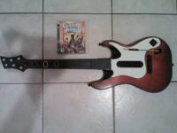 This is a cordless guitar for the PS3. Due to the fact