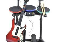 I have up for sale a guitar hero drum set, 1 guitar and