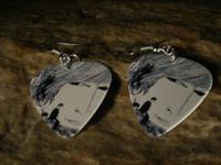 Real guitar picks made into fashion earrings. All items
