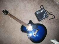 BEAUTIFUL midnight blue stain Takamine