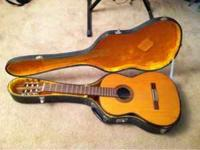 Guitar with case. The guitar is in good condition, just
