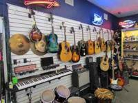 We have Guitars and amps electric and acoustical, Bas