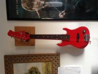 Kids electric guitar with case $50 Red Ibanez $65 First