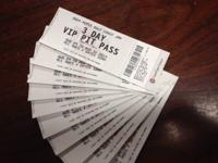 We have 10 3-Day VIP Pit Passes for Sale. $375ea Firm.