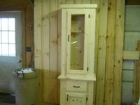 GUN CABINET, HAND CRAFTED, MADE FROM EASTERN WHITE