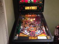 Personal guns an roses pinball machine in great shape