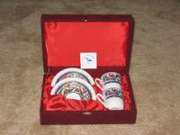 Brand New, GURAL PORSELEN Porcelain Set of 2 Cups &