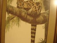 CLOUDED LEOPARD By Artist Guy Coheleach, Copyright