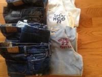 Guys 5 pairs of jeans,sz.28/30 and 29/30. Hollister and