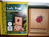 Wildwood Farms new in box Lady Bug House. Handy crafted