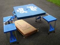 Used in good condition chilld's portable picnic table