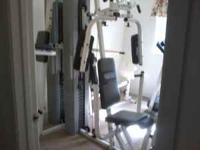 home workout gym it has 3 work out spots all in good