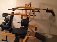Powertec 3 station home gym with 300+ pounds of free