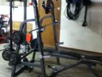 Marcy mp-12.0 gym set. 90$ Price is firm--weights are