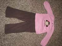 ADORABLE! Pink and Brown 2t Gymboree Outfit Daddy's