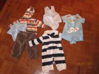 0-3 month gymboree romper with matching socks, 0-3