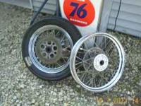 "16""+19"" spoke wheels off older FXR. Straight and true,"