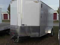 NEW 2013 H&H 6X14 SFTCA V-Nose Enclosed Trailer.  This