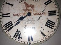 H Williamson Ltd Saddle Maker London Wall Clock with
