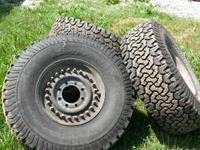 Have a complete set of H1 wheels and tires. they are 8