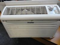 HAIER room air window type air conditioner AC - works