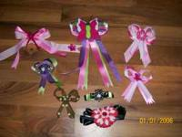 I have several home made hair bows for sale make offer